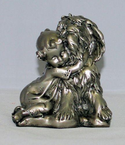 Figur Mädchen mit Hund