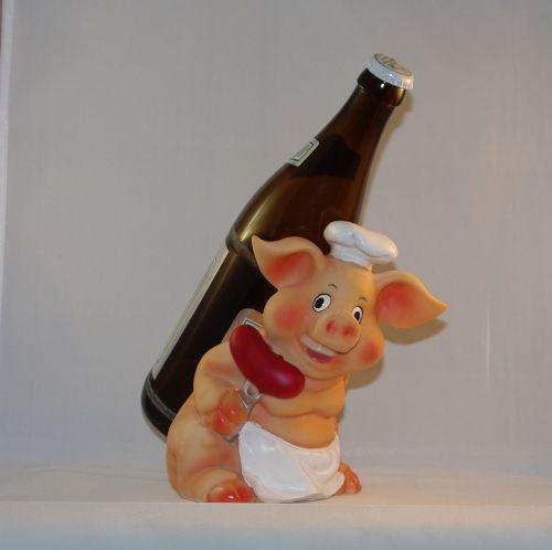 Flaschenhalter Grillschwein