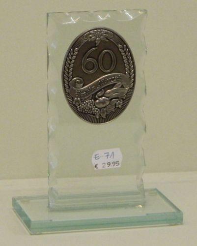 Glaspreis mit Jahreszahl 60.