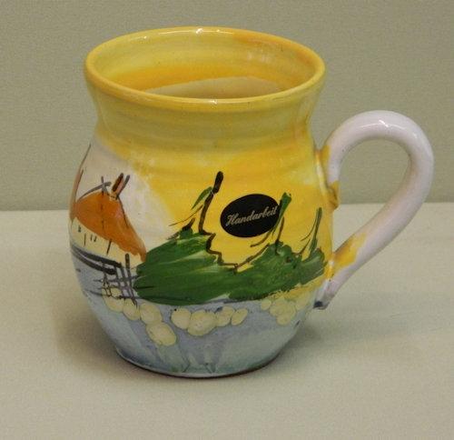Handbemalte Keramiktasse